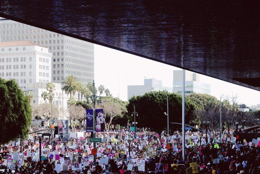 Tourists in Hollywood and protesters can make streets crowded and busy
