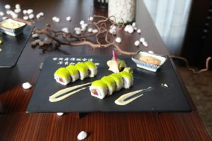 Modern sushi serving in the best Japanese restaurants in Hollywood