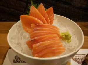 Sashimi is a raw fish without sushi rice.