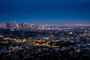 Huge city of LA at night