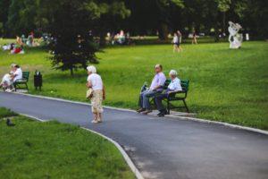 senior in a park