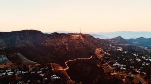 An aerial view of Hollywood