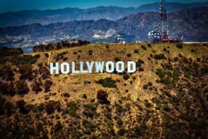 A Hollywood sign.