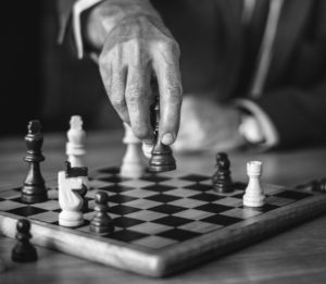 chess is the perfect example of requiring a strategy