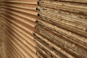 Layers of cardboard
