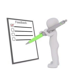 Writing a feedback.