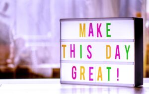 A light commercial saying make this day great that should be your motif when helping your elderly parent move from LA to Denver.