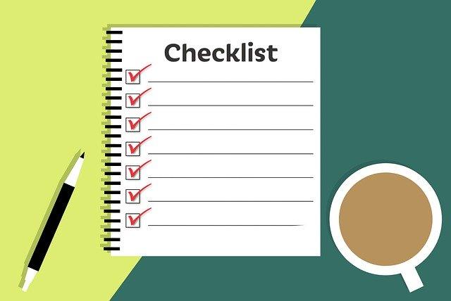 Checklist for coast to coast move.