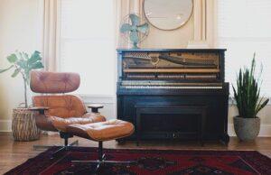 Home Interior Piano Chair