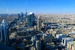 Aerial shot of Riyadh.