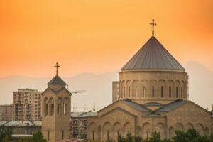 Hollywood neighborhoods with Armenian church.