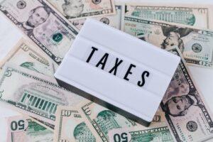 Taxes on money/