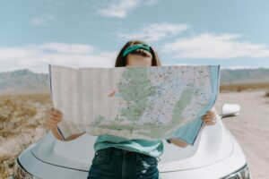 California millennials moving to Colorado with a map.