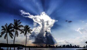 The sky Miami.