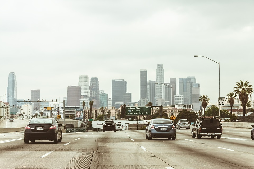 Cars on a cross country move from LA.