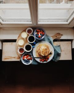 Breakfast served after opening a Bed&Breakfast