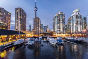 The city of Toronto seniors frequently choose when moving to Canada.