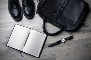 Notebook,shoes and bag