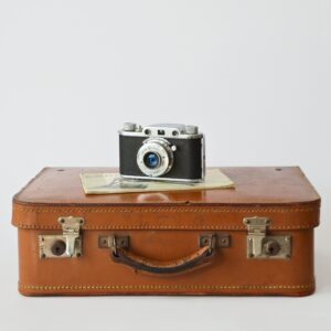Travel case with a camera