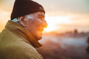 an old man, read our Step by step guide to moving with a senior
