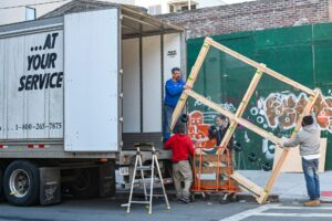 movers loading a moving truck during relocation