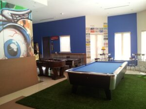 Game room - If you want one, there are many simple ways to turn your garage into a play room.
